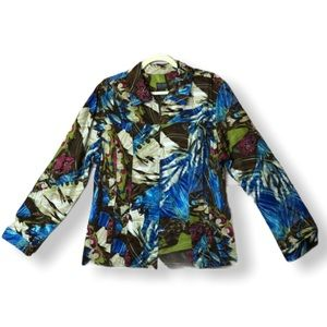 Chio's Additions Floral Zipped Jacket Size 3